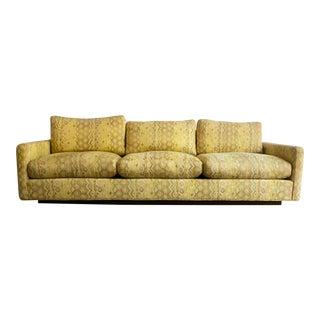 Milo Baughman for Thayer Coggin Woven Jacquard Sofa For Sale