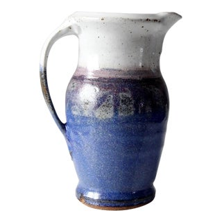 Vintage Studio Pottery Pitcher Vase For Sale