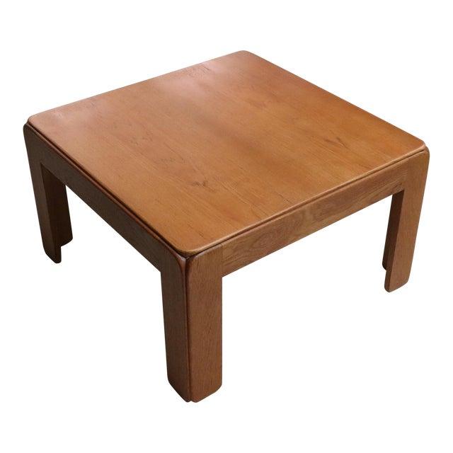 Danish Modern Niels Eilersen Solid Teak Side Table For Sale