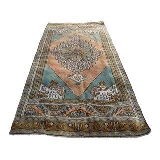"""Vintage Anatolian Oushak Handmade Rug - 8'10"""" x 3'4"""""""