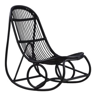 Nanna Ditzel Nanny Rocking Chair - Black For Sale