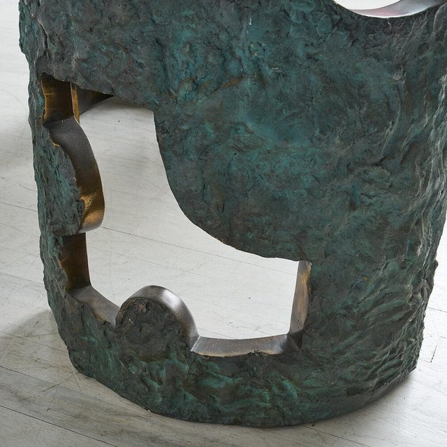 Bronze Brutalist Dining Table by Valenti Madrid For Sale In Chicago - Image 6 of 13