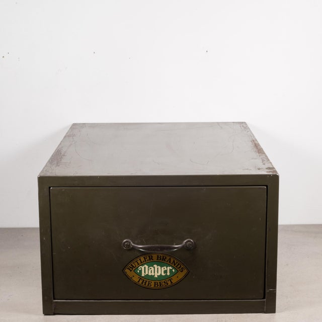 Metal Industrial Army Green Factory Cabinet C.1940 For Sale - Image 7 of 10
