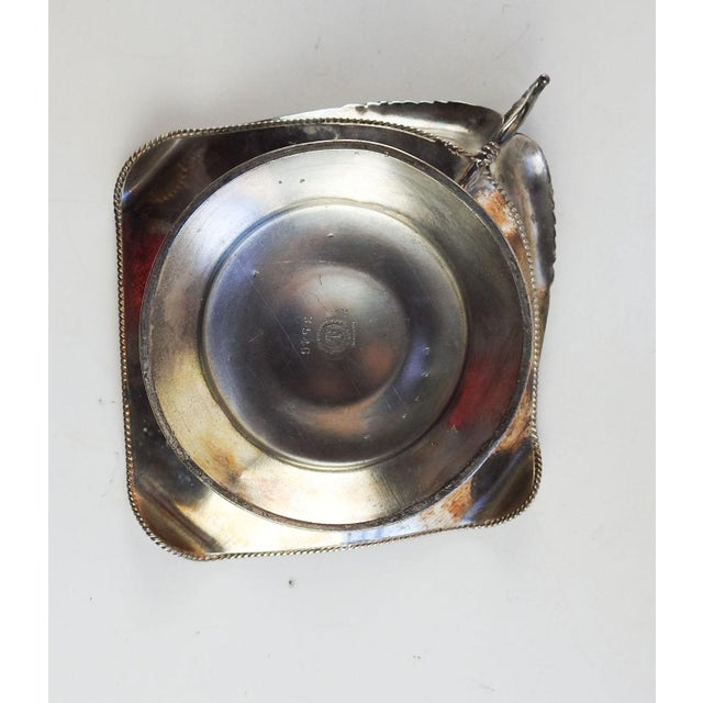 Silver Antique Aesthetic Movement Card Tray Wings & Music For Sale - Image 8 of 9