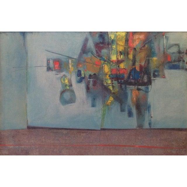 Stanley Bate, Pas De Deux Painting, Circa 1960 For Sale