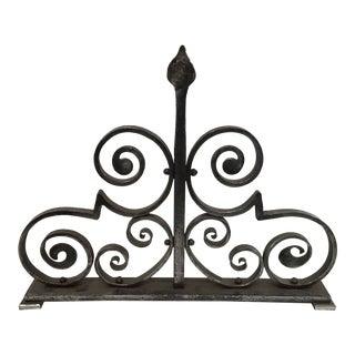 Art Nouveau Wrought Iron Sculpture For Sale