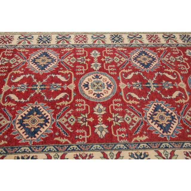 "Textile Apadana Kazak Runner Rug - 5'6"" x 24'5"" For Sale - Image 7 of 8"