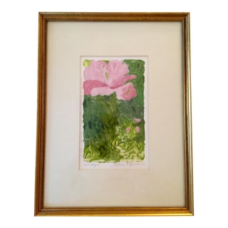 Signed Estelle McGuckin Original Framed Monotype Print For Sale