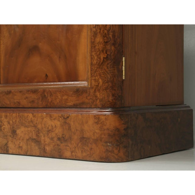 Brown Antique English Burl Walnut Bookcase, Circa Late 1800s and Correctly Restored For Sale - Image 8 of 10