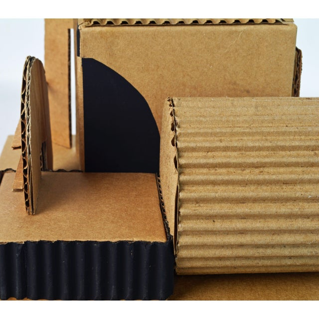 Cubist Bauhaus Style Architectural Cardboard Table Sculpture by Virgil Greca For Sale - Image 11 of 13