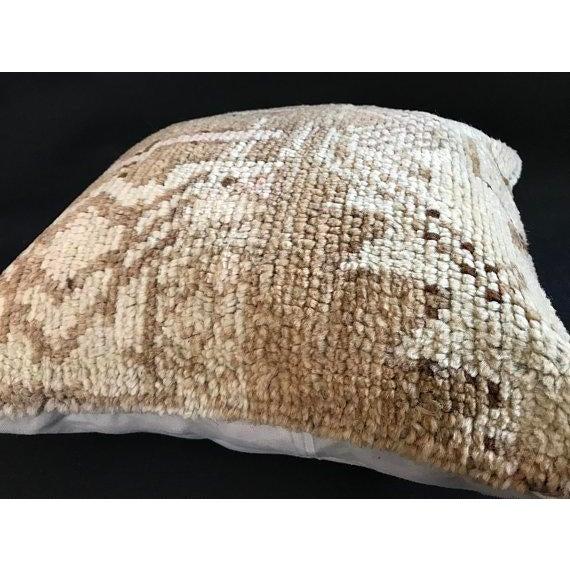 Boho Chic Turkish Oushak Antique Handmade Pillow Case For Sale - Image 3 of 11