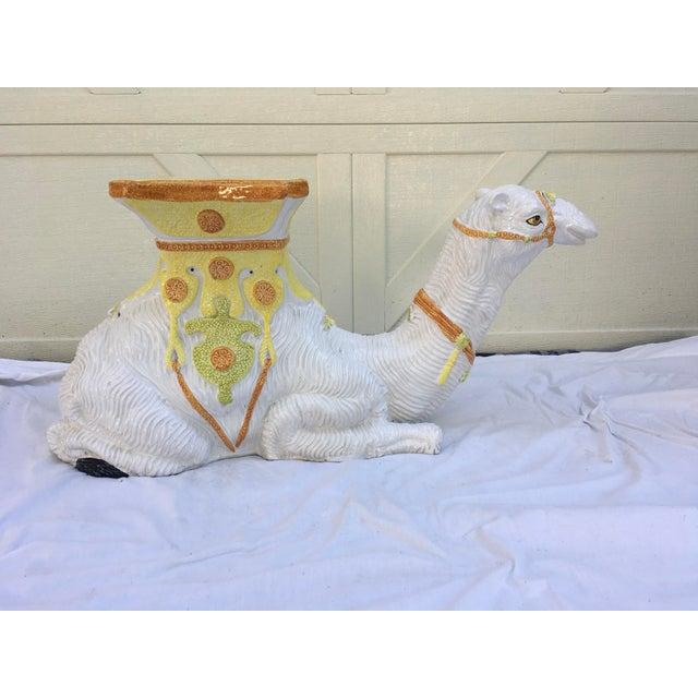 Italian Terra-Cotta Camel Garden Seat For Sale - Image 4 of 13