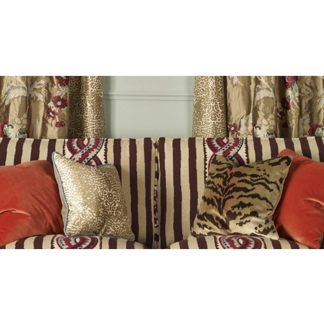 Nobilis of Paris From the Salambo Collection, Velvet Tiger Down Feather Accent Pillows - Set of 2 For Sale - Image 4 of 4