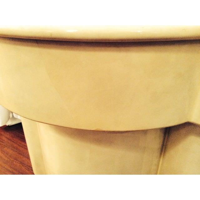 Vintage 1970s Faux Parchment Console Table - Image 11 of 11