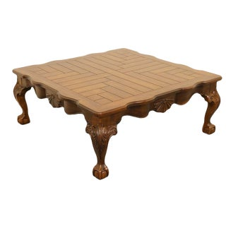 20th Century Traditional Drexel Solid Pine Ball and Claw Coffee Table For Sale