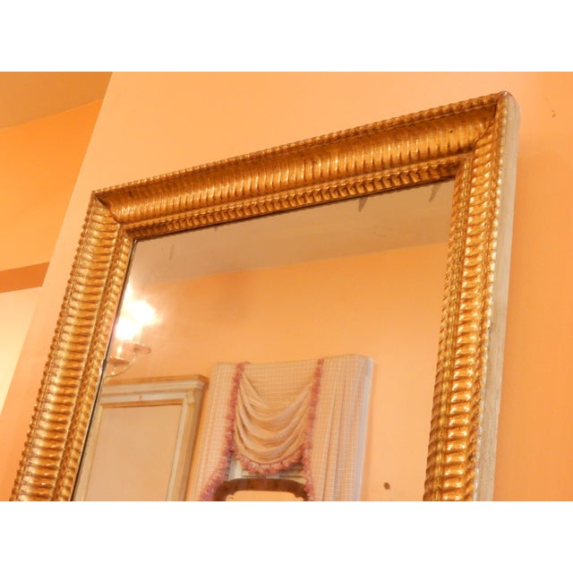 19th Century 19th C. Charles X Gold Gilt Mirror For Sale - Image 5 of 7