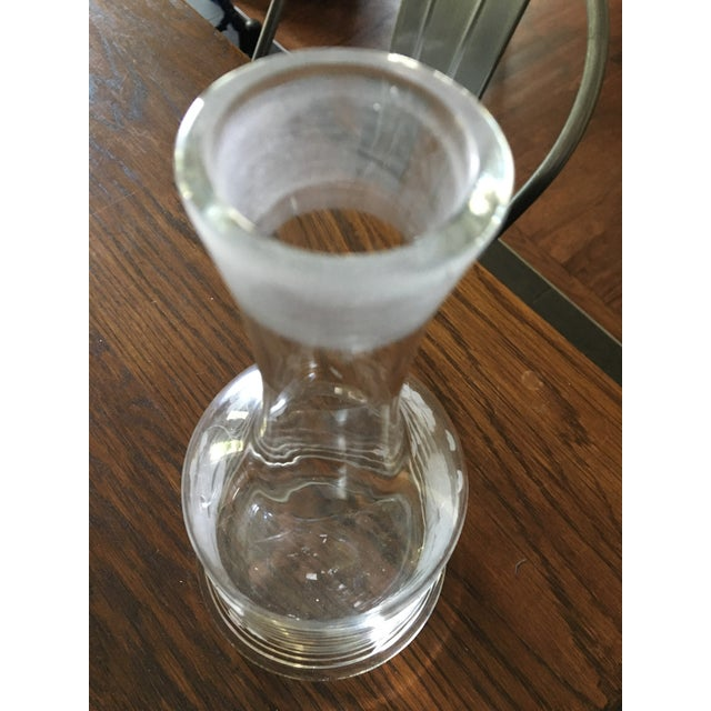 Mid-Century Cut Glass Floral Decanter - Image 5 of 5