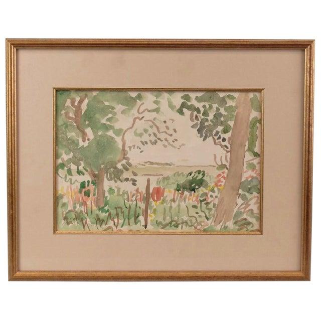 Adrian Daintrey Landscape Watercolor Painting For Sale