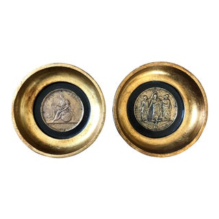 Vintage Florentine Coin Medallions- a Pair For Sale