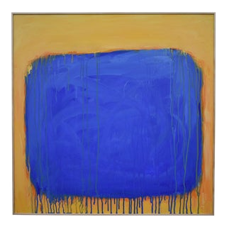 """The Sun Came Up and It Was Blue and Gold"" Contemporary Abstract Painting by Stephen Remick For Sale"