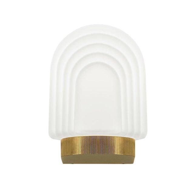 Art Deco Style Brass Bathroom Wall Light IP44 For Sale