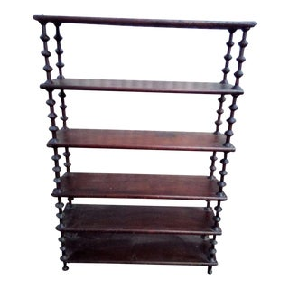 Early 20th Century Antique Tramp Art Spool Bookshelf For Sale