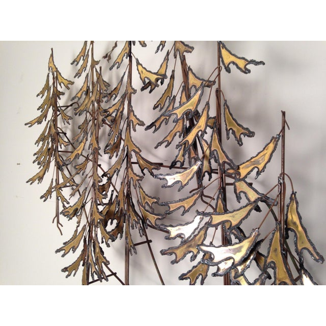 Curtis Jere Signed 1982 Alpine Trees Wall Sculpture - Image 4 of 11