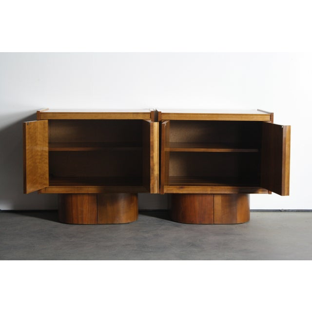 Mid-Century Book-Match Walnut End Tables - A Pair - Image 10 of 10