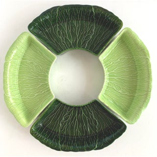 Vintage Majolica Cabbage Relish Dipping Set by Princeton Preview