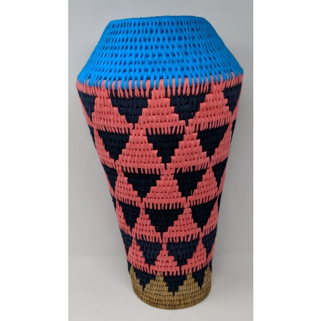 African African Woven Vase - Made in Swaziland For Sale - Image 3 of 13