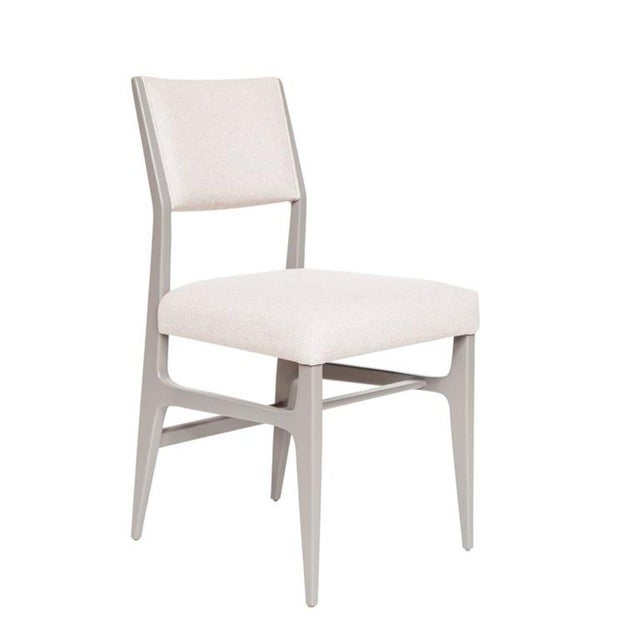 Set of 4 Maze Lacquered Dining Chairs For Sale - Image 4 of 5