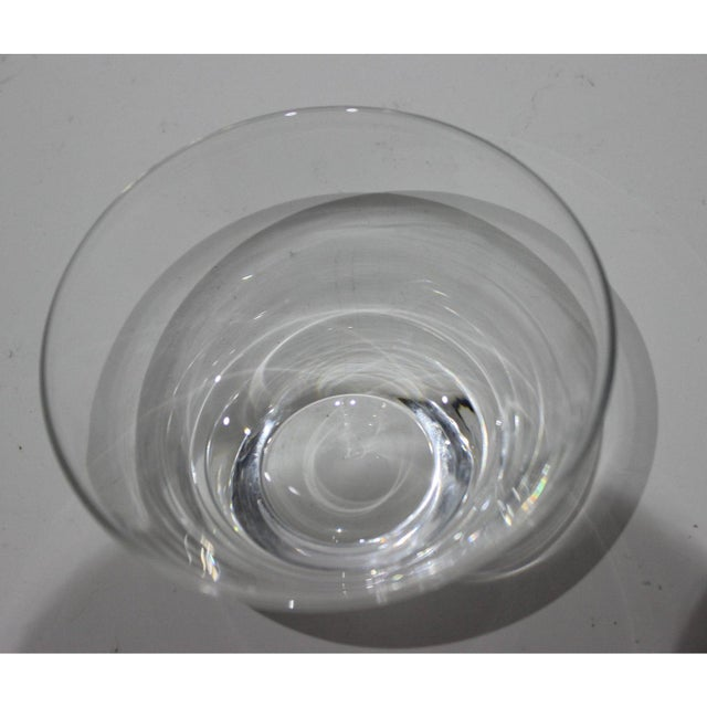 Steuben Glass Mid-Century Modern Steuben Serving Bowl for Martini Olives Clear Glass Signed in Verso For Sale - Image 4 of 9
