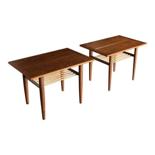 George Nakashima for Widdicomb Side Tables Circa 1958 - a Pair For Sale