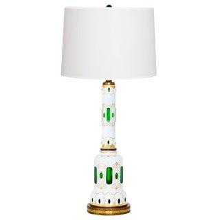 Tall Bohemian Glass Lamp