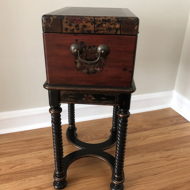 Hooker Traditional Hooker Furniture Living Room Dynasty Box on Stand For Sale - Image 4 of 13