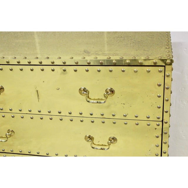 Sarreid Ltd. Sarreid Brass-Clad Dresser For Sale - Image 4 of 6