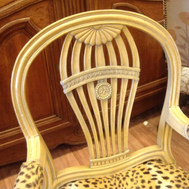 Set of 4 Jansen Style Balloon Back Chairs For Sale In West Palm - Image 6 of 12