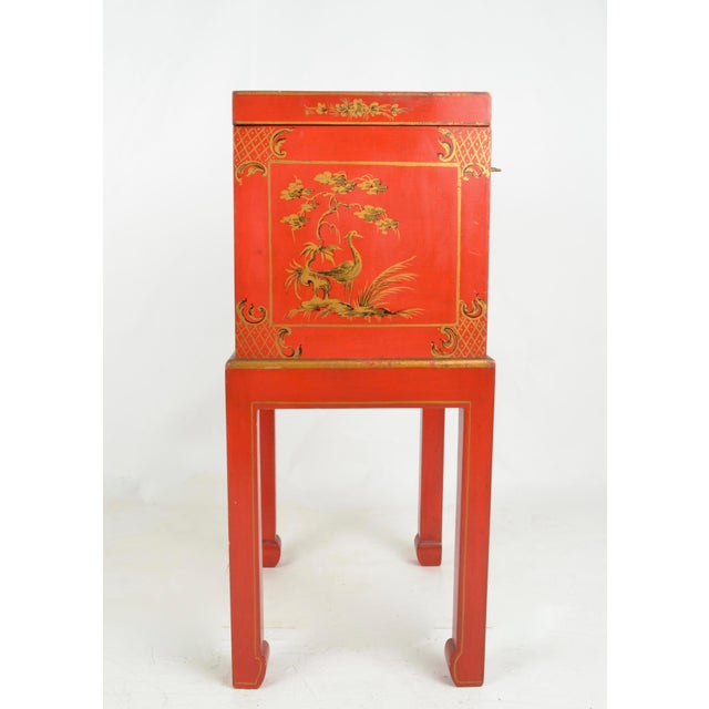 1960s Chinoiserie Box on Stand For Sale - Image 5 of 13