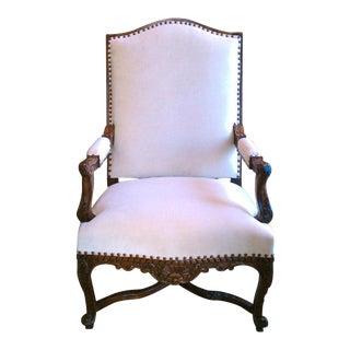 19th Century Regence Walnut Armchair For Sale