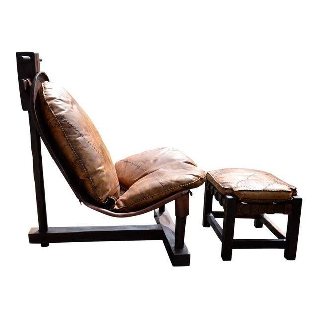 Rare Brazilian Modern Chair & Ottoman - Image 3 of 4