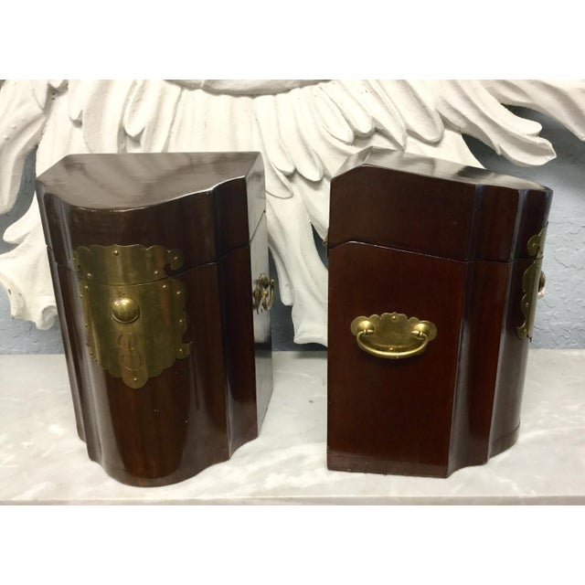 This is a wonderful matching pair of mahogany knife boxes now fitted as document boxes. The pieces retain their original...