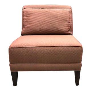 Silk Upholstered Slipper Chair