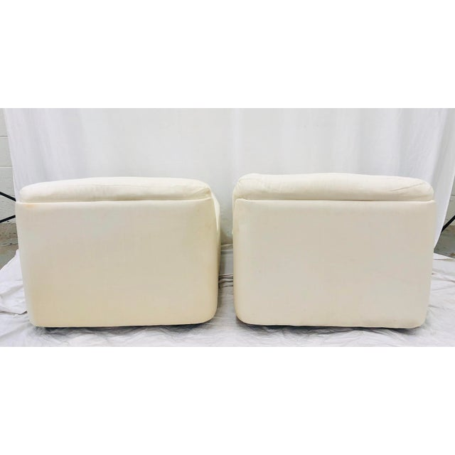 Vintage Contemporary Modern Slipper Chairs For Sale - Image 12 of 13