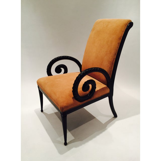 Grosfeld House Style Suede Chairs - A Pair - Image 5 of 7