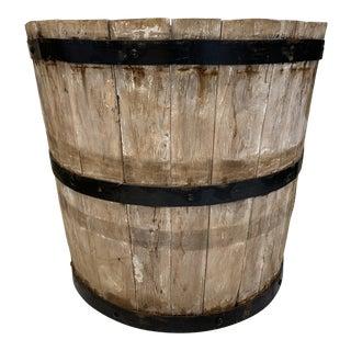 1940s Vintage Wooden Barrel Planter For Sale