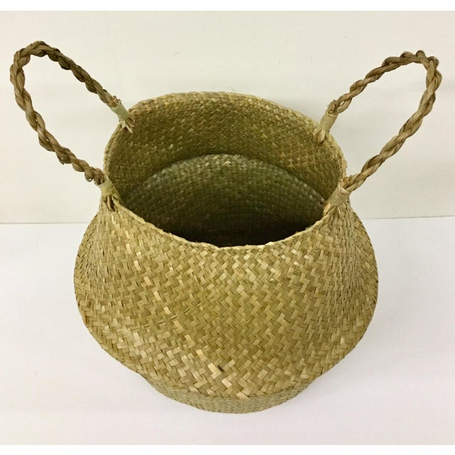 Fiber Natural Straw Collapsible Basket For Sale - Image 7 of 12