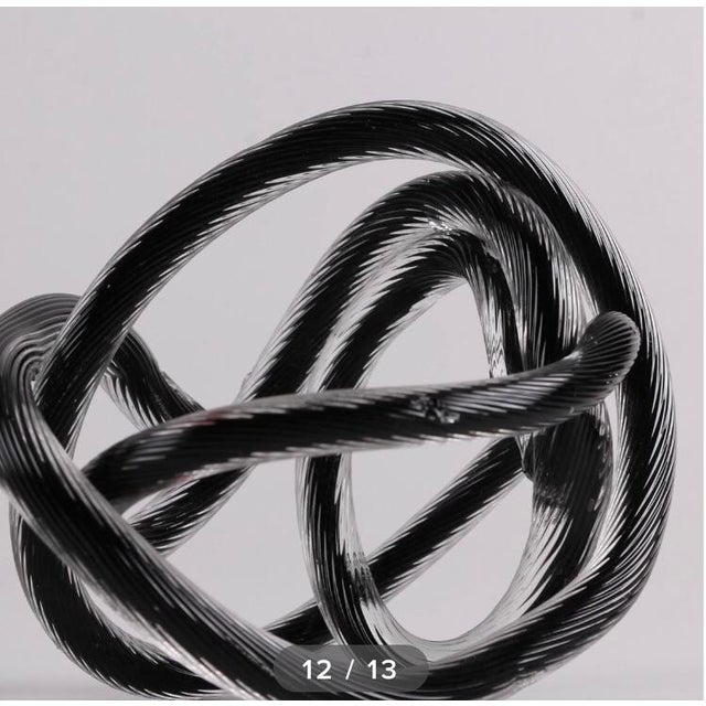 Vintage Glass Knot Collection - Set of 5 For Sale In San Francisco - Image 6 of 8