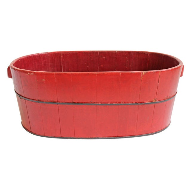 Wood Barrel Container - Image 1 of 3
