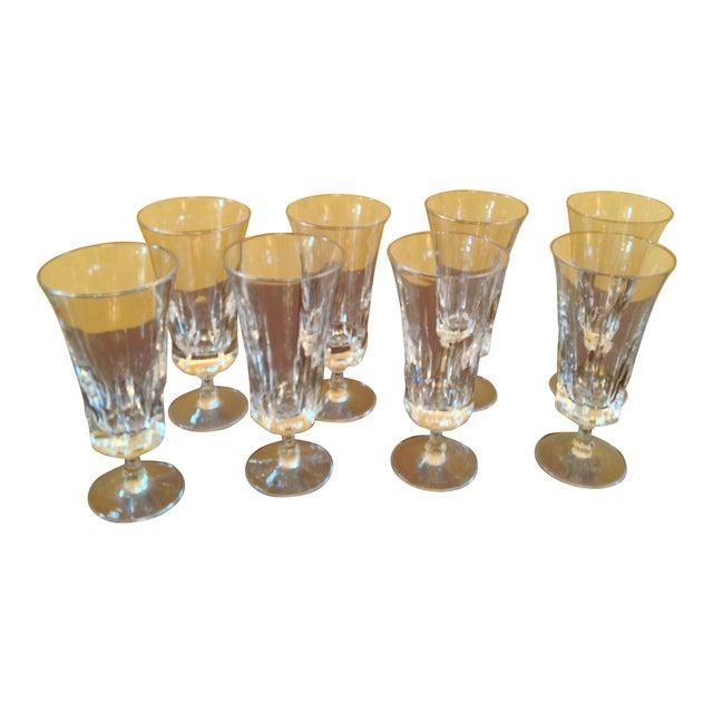 Transparent 1950s Vintage Crystal Goblets - Set of 8 For Sale - Image 8 of 8