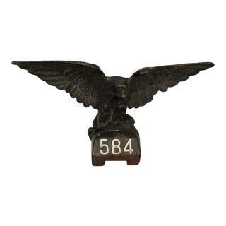 Antique Cast Iron Pilot House Winged Eagle For Sale